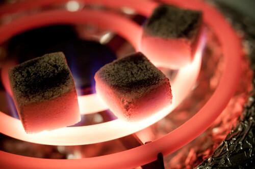 Burning Coco Nara Coals