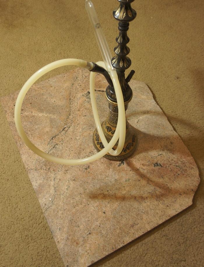 Stabilizing Hookah on Carpet